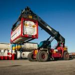 Gru per sollevamento container Polo di Mortara